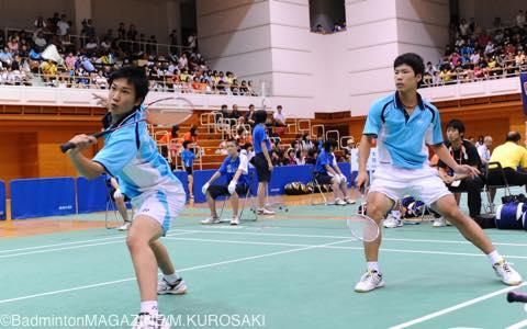 シングルスは優勝を逃したが、ダブルスでは先輩の齋藤太一とのペアで優勝
