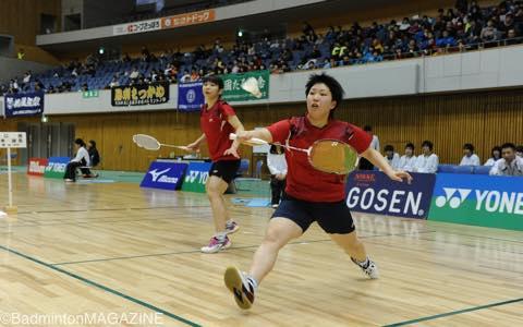 3月の高校選抜では鈴木咲貴(左)とのペアで優勝