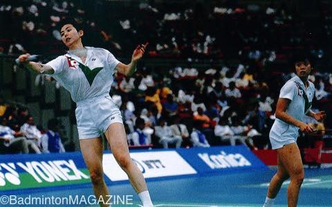 日本代表としても活躍。80-81年のユーバー杯では世界一も味わった(写真は90年のユーバー杯)