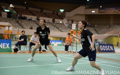 昨年の社会人には世界選手権銅メダルの福万尚子/與猶くるみ(左)が出場して優勝を飾った