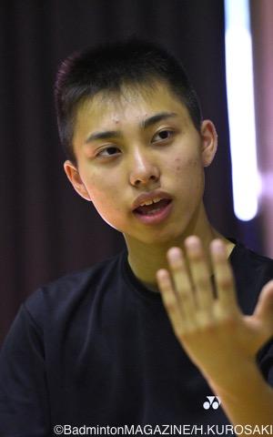 「できれば上位進出」と大会の目標を語る奈良岡。中学3年ながら、実力の高さは誰 もが認めるところだ