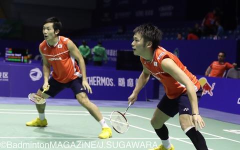 シンガポールOPで初の決勝進出を飾った園田啓悟/嘉村健士(右)