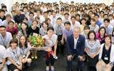 【リオ五輪】高橋礼華「目の前のヨネックスOPジャパンに集中したい」 ヨネックス訪問