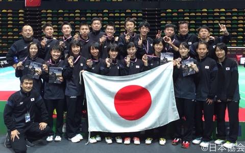 銅メダルを獲得した日本選手