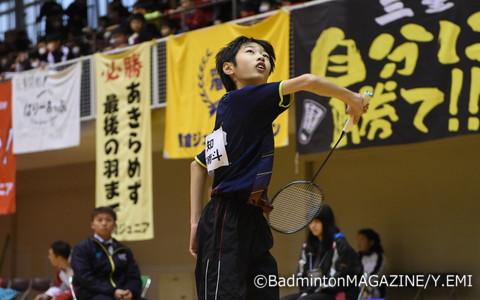 決勝では相手を圧倒した愛知の冨田万南斗
