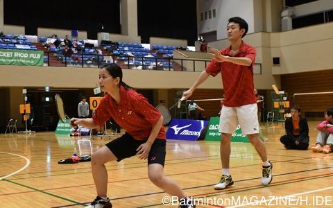 準優勝の中村洋貴(右)/吉田彩夏(日本ウェルネススポーツ専門学校)