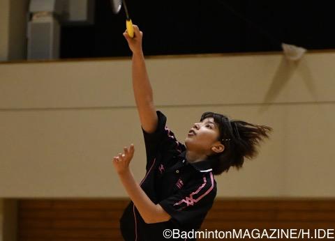 女子シングルスを制した岡田尚子