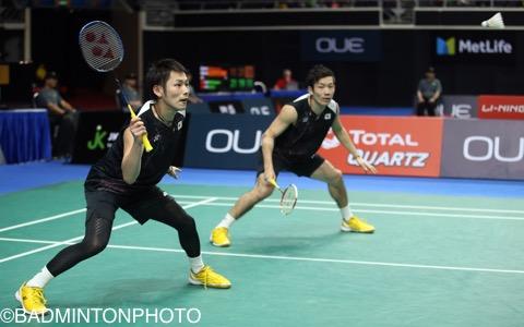 園田啓悟/嘉村健士(左)は香港OPで勝ったことがあるボー/モーゲンセンに敗れた