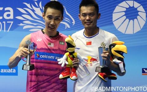 リー・チョンウェイ(左)と林丹