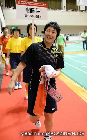 団体3位、ダブルス準優勝、そしてシングルスでは前人未踏の3連覇を果たした山口茜。すべての戦いを終えたあと、山口は最高の笑顔を見せた