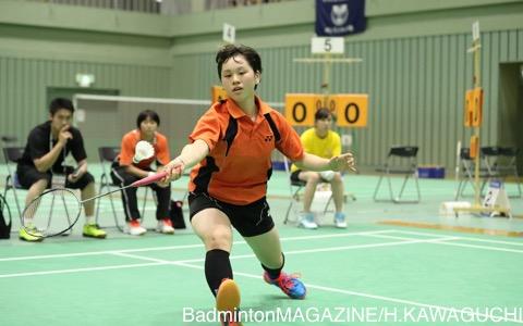 林樂(埼玉栄)は昨日のダブルスに続いてシングルスでも準決勝へ。最後の夏に高校初タイトルなるか