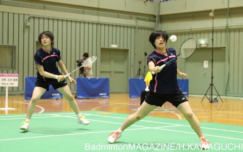 春夏制覇は逃した森沙耶(右)/石村亜美(青森山田)だが、決勝進出でしっかりと力を証明した