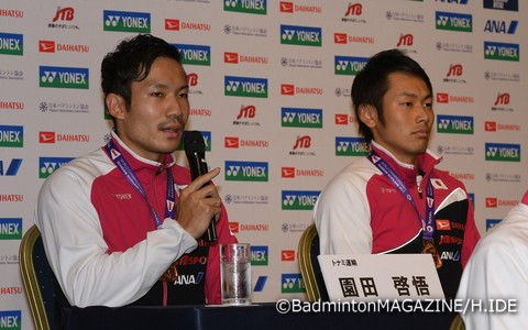 男子ダブルス/園田啓悟(左)&嘉村健士…銅メダル