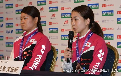 女子ダブルス/髙橋礼華(左)&松友美佐紀…銅メダル