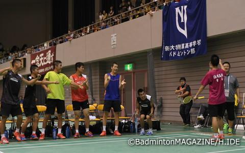 埼玉栄との3回戦で勝利を決めた奈良岡