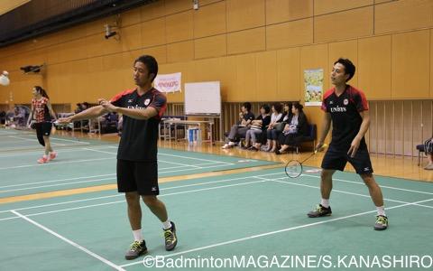 互いに笑顔が絶えなかったゲーム練習では、遠藤大由&上田拓馬という珍しいペアリングも見られた