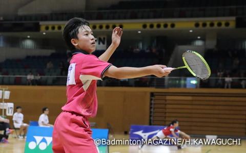 第1シードから全試合ストレート勝ちを収めた武井凜生(福島)
