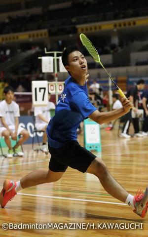 優勝候補の奈良岡功大(青森)。大会連覇に向けて注目が集まる