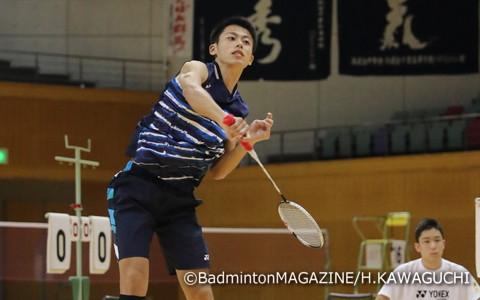 今年のインターハイで8強に名を連ねた一井亮太(岡山)が準決勝に進出
