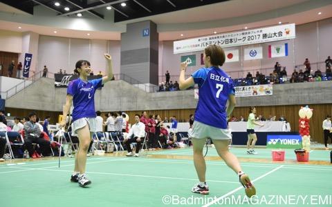 本田(左)/清水(日立化成)