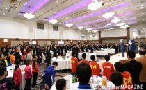 約550人が出席したレセプション。会場は熱気に包まれた
