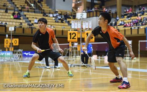 埼玉栄の中山裕貴(左)/緑川大輝。JOCに続く優勝を果たした