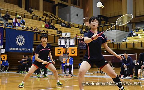 準優勝の大石悠生(左)/木村早希(青森山田)