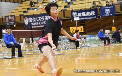苦しみながらも、決勝進出を果たした青森山田。森(写真)は第2ダブルスと第3シングルスで貴重な勝利をあげた