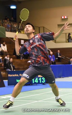 高校選抜で個人単のタイトルを獲得したばかりの奈良岡が、大阪国際でも好調をキープして準優勝