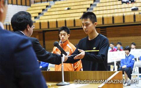 男子シングルスの1年生王者誕生は2006年の田児賢一(当時・埼玉栄)以来、12年ぶり