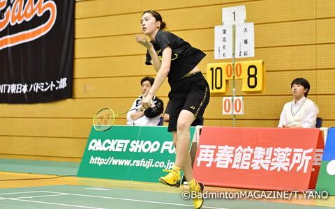 女子シングルス唯一のA代表・大堀彩はストレート勝ちで2回戦進出