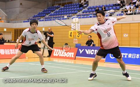 ペアとして初めて挑む大会で準優勝を果たした星野翔平(右)/ 西川裕次郎(NTT東日本)