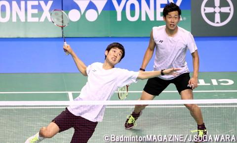 2回戦以降の3試合でストレート勝ちを収めている橋本(右)/佐伯