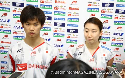 渡辺勇大(左)/東野有紗