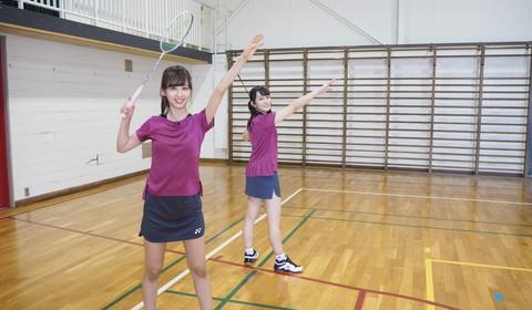 佐藤&向井の乃木坂46最強(?)バドミントンコンビが潮田玲子さんとガチンコ勝負を挑むシーンも。