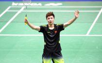 林丹には国際大会で3連勝している石宇奇。地元・中国でも勝利を飾った