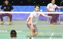 秋田マスターズは2回戦に進出したが、タイの選手にストレート負けを喫した