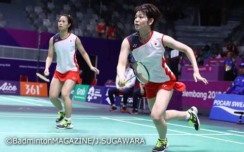 貫録のストレート勝ちで日本チームに勢いをつけた福島(左)/廣田