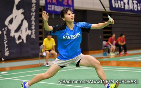 準決勝に駒を進めた佐川智香(作新学院)。自己最高の全国大会3位という壁の突破をめざす