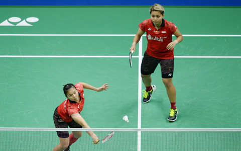 インドネシアのエースであるポリイ(左)/ラハユが準決勝進出