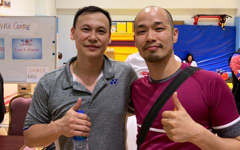 日本チーム『MATSURI BC』の一員として大会に参加した藤本ホセマリさん(右。左はトニー・グナワン)