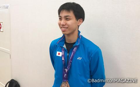 日本勢のなかで唯一、個人戦でもメダルを獲得した奈良岡功大