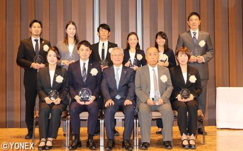 他競技を含めた全受賞者で記念撮影
