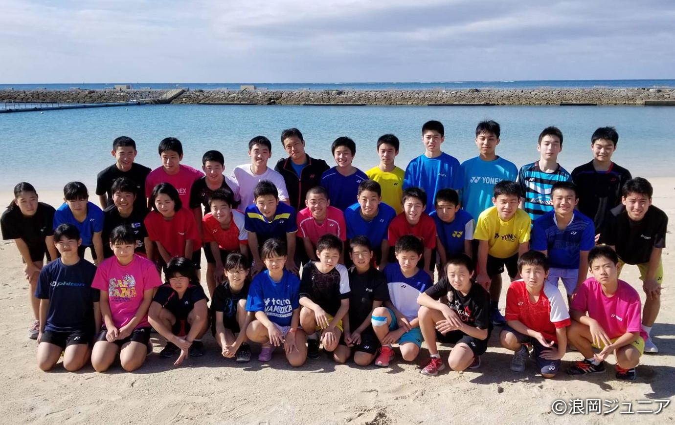 年始に行なった沖縄キャンプにて(奈良岡は後列右から3番目)
